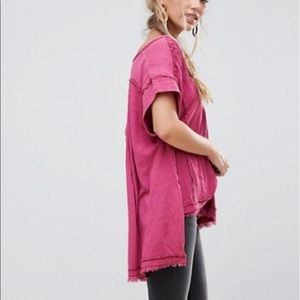 Free People ASTER HENLEY Berry NWT
